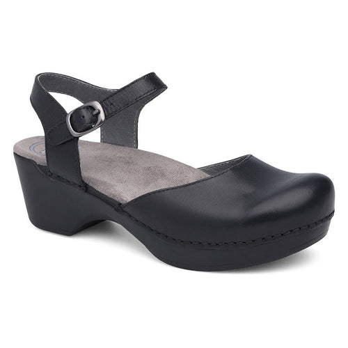 Dansko Sam Women's Leather Ankle Strap Clog Shoe