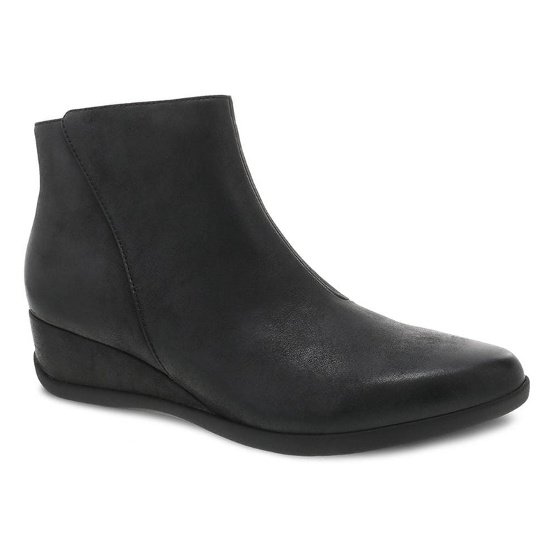 Dansko Women's Serenity Waterproof Wedge Bootie Black | Simons Shoes