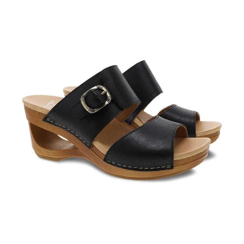 Dansko Tawny Memory Foam Lightweight Leather Slide Sandal | Shop Simons