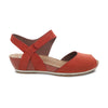 Dansko Vera Women's Leather Quarter Strap Peep Toe Wedge Sandal Shoe