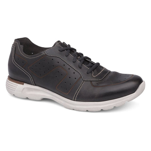 Dansko Men's Wesley Leather Stitched Lace Up Sneaker Shoe