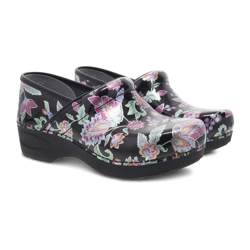 Dansko XP 2.0 Women's Patent Leather Antistress Clog Paisley Floral | Simons Shoes