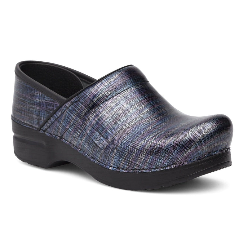 Dansko Professional Women's Patent Leather Linen Comfy Clog Shoe