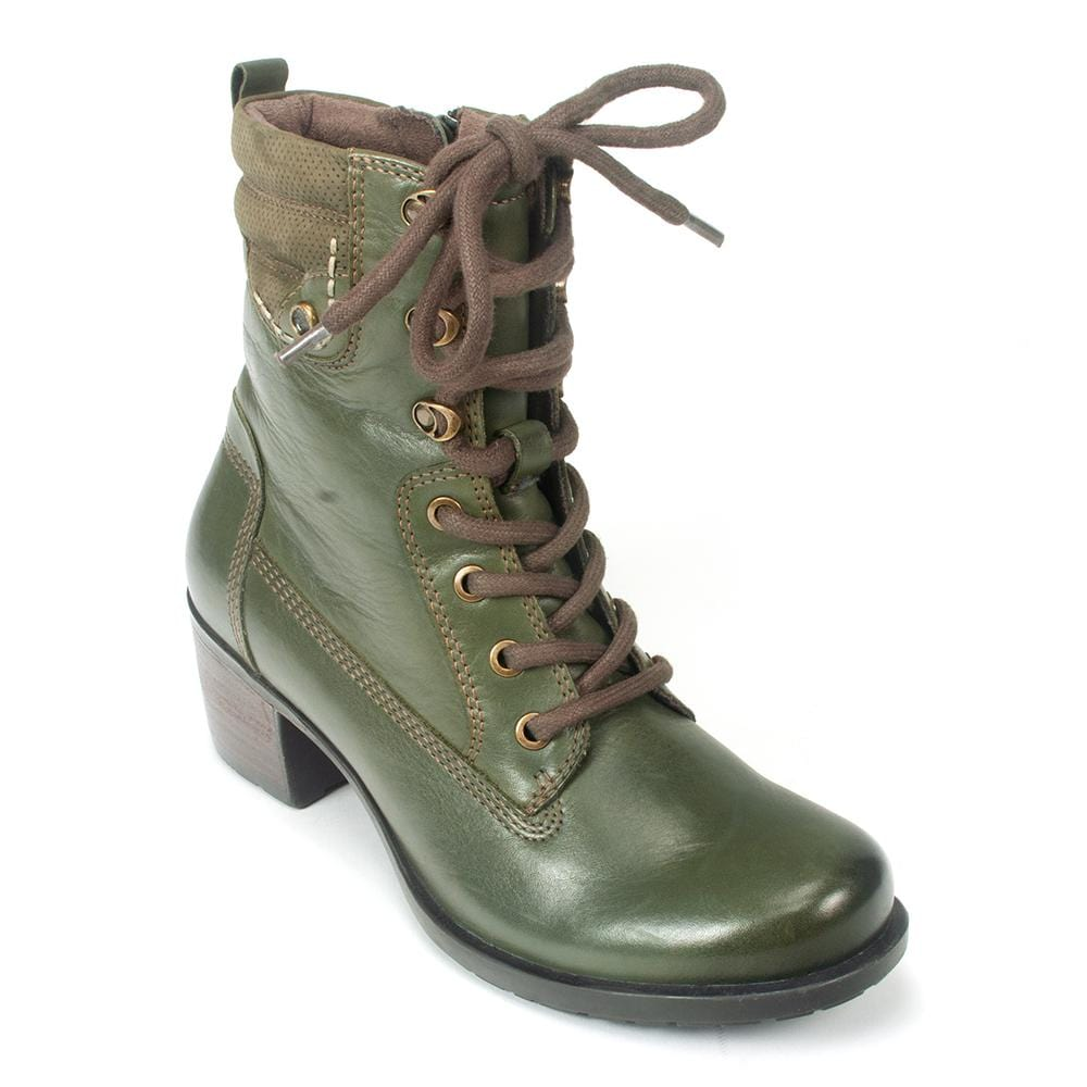 earth lace up boots