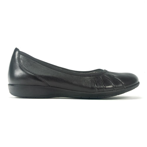 Earth Derby | Women's Leather Ballerina Comfort Flat | Simons Shoes