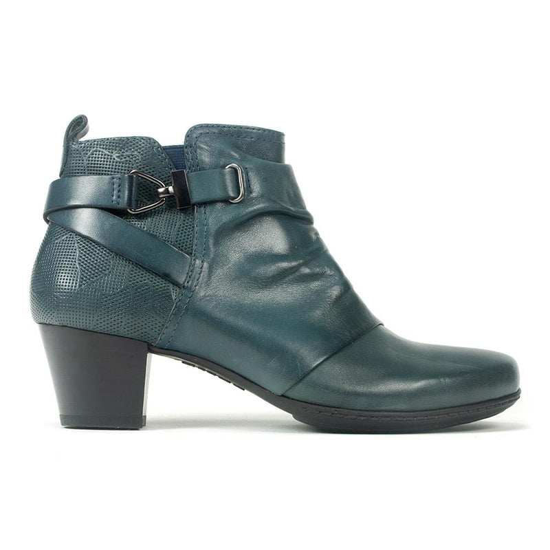 Earth Halifax | Women's Leather Ruched Ankle Bootie | Simons Shoes