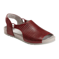 Earth Brand Women's Laveen Perforated Leather Slip On Sandal Shoe