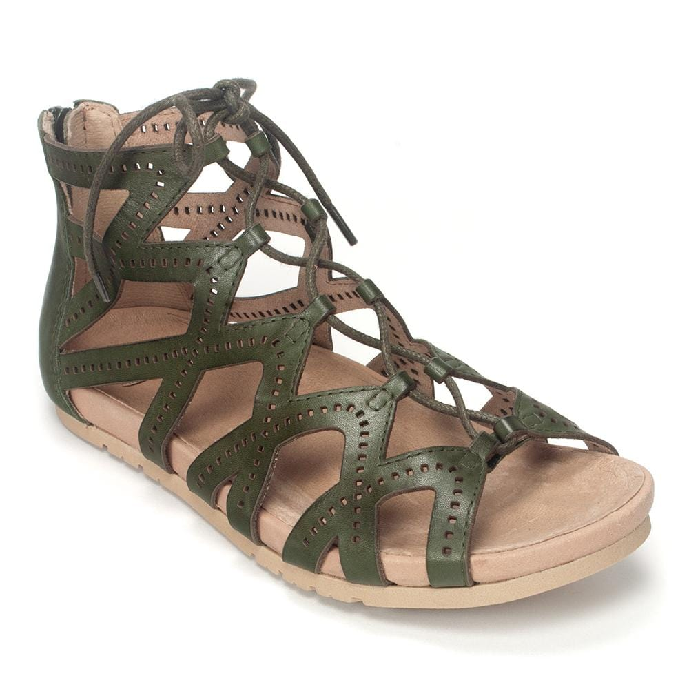 Earth Brand Lehi Gladiator Leather Lace Up Sandal Shoe - Simons Shoes