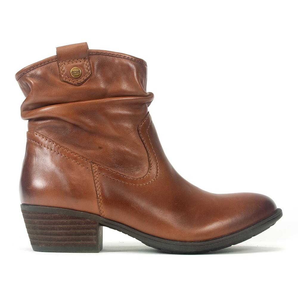 arth Pioneer | Women's Leather Western Slouch Bootie | Simons Shoes