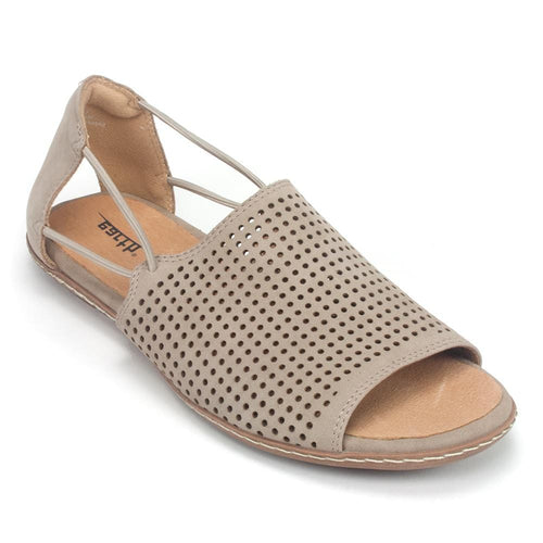 Earth Shelly Women's Perforated Leather Supportive Sandal Slip On Shoe