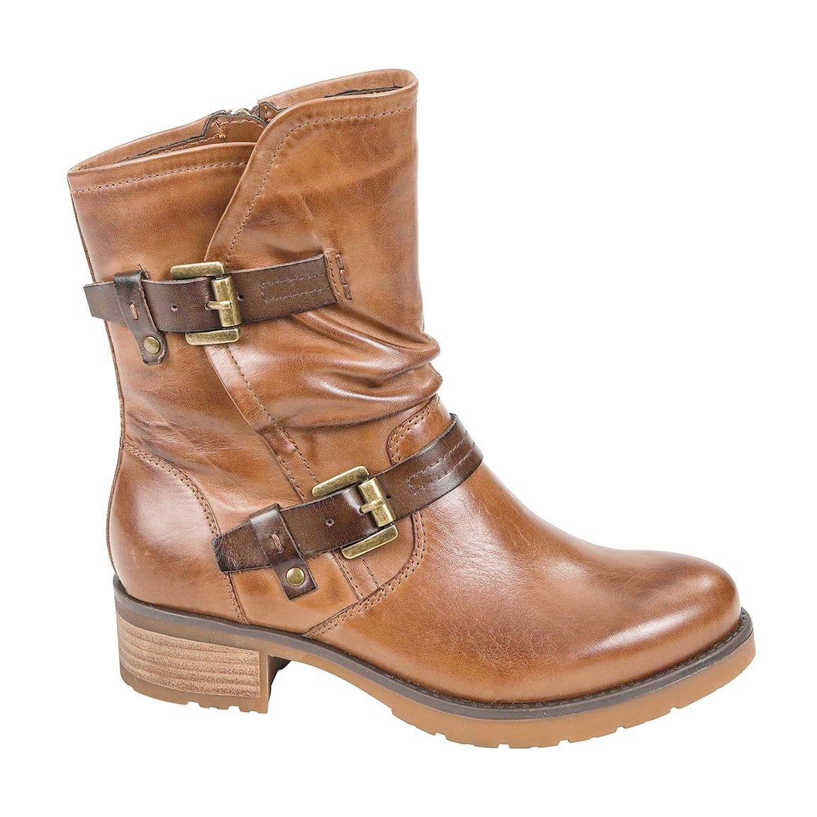 Earth Brand Talus Boot - Womens Talus Leather Moto Boot - Simons Shoes