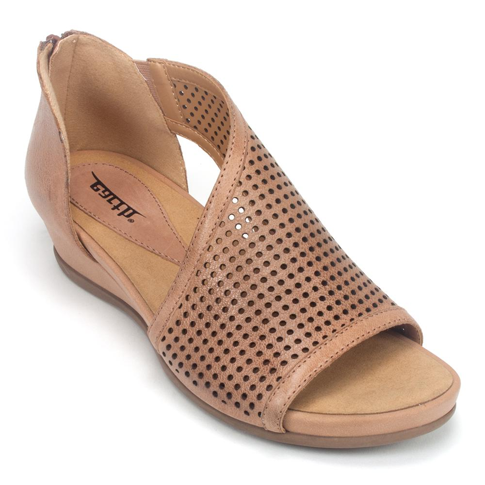 2bbc2531b Earth Venus Women s Perforated Leather Reinforced Arch Sandal Shoe ...