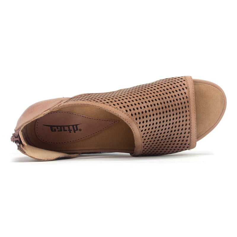Earth Venus Women's Perforated Leather Reinforced Arch Sandal Shoe