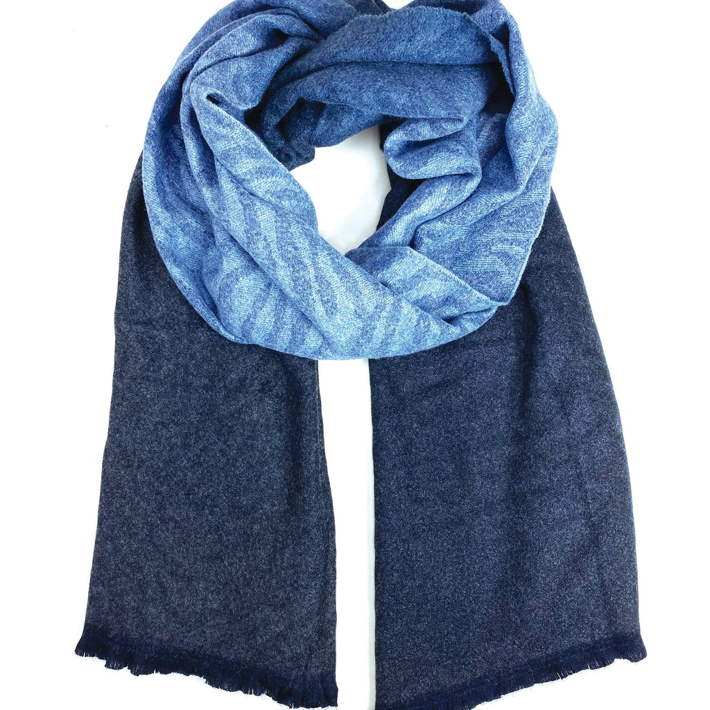 Echo Design ECO457 Navy Dip Dye Zebra Scarf | Simons Shoes