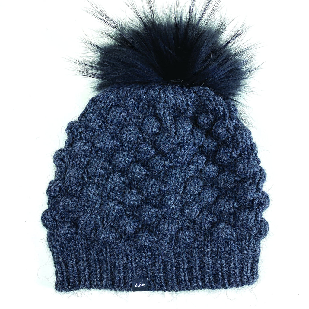 Echo Design ECO408S Black Bubble Pom Hat | Simons Shoes