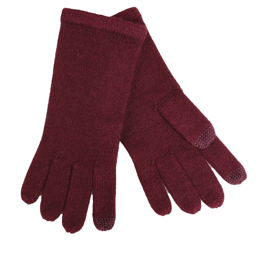 Echo Design ECO465 Maroon Knit Touch Glove | Simons Shoes