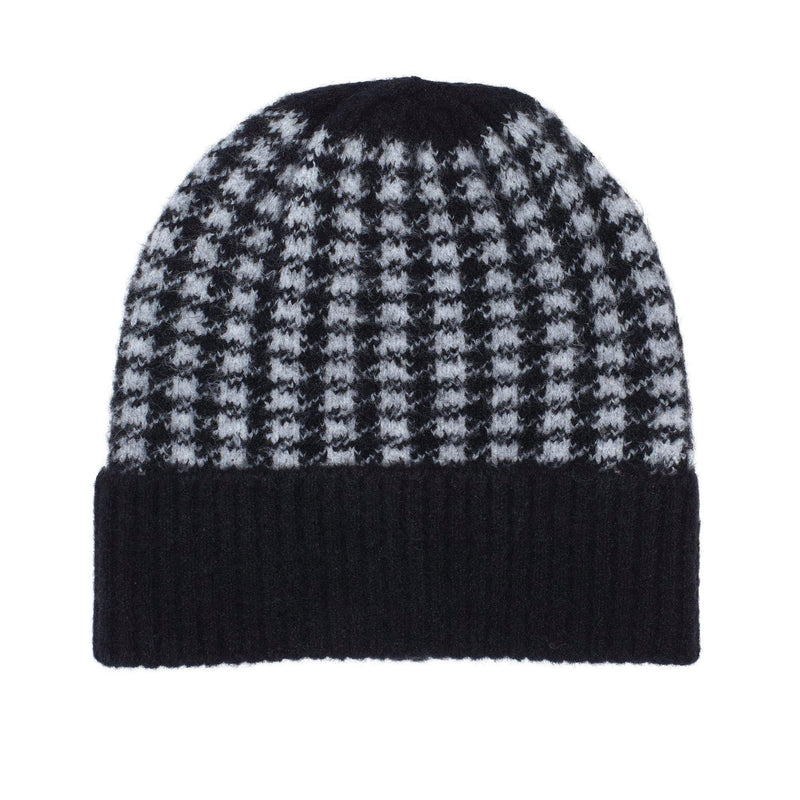 Mixed Plaid Pom Hat (ECO545)