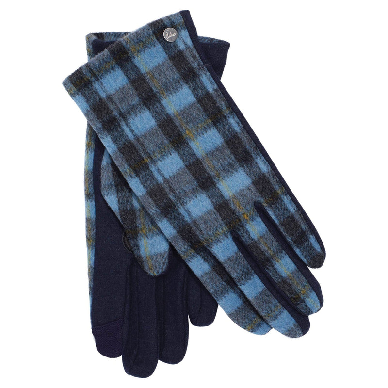 Echo Design EGO186 Blue Plaid Touch Glove | Simons Shoes