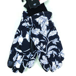 Echo Design Black and White Floral Thinsulate Gloves (EGO198) | Simons Shoes