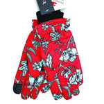 Echo Design Red and White Floral Thinsulate Gloves (EGO198) | Simons Shoes