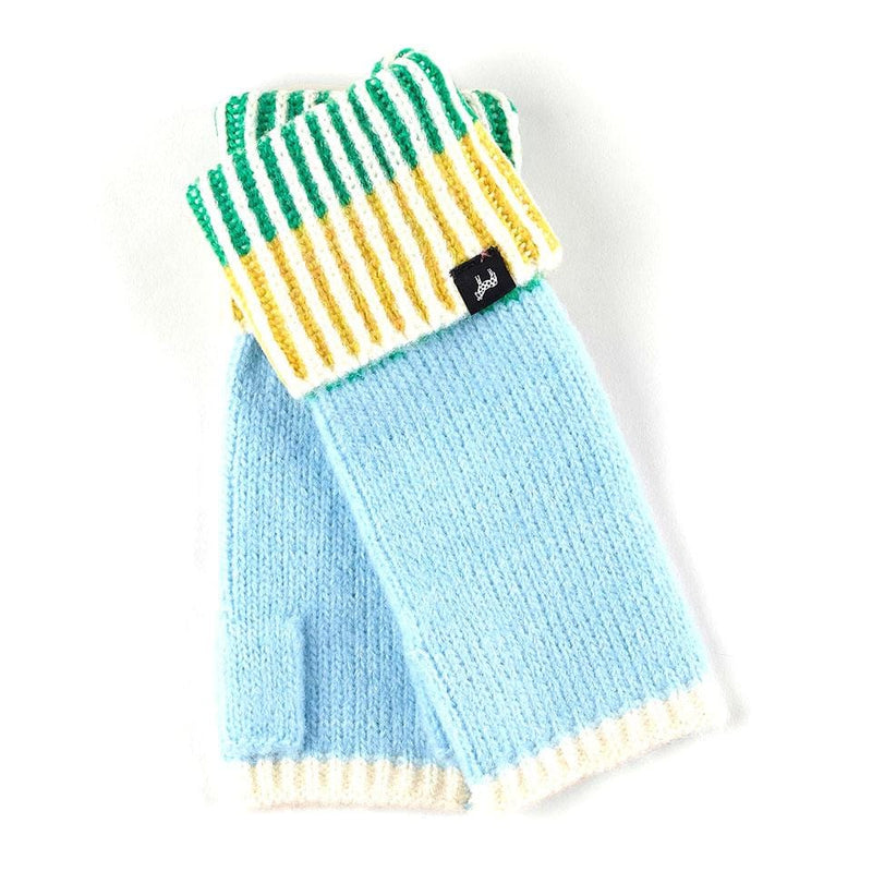 Echo Lollipop Fingerless Gloves (ECO328) Winter Fun Sky Blue │ Simons Shoes