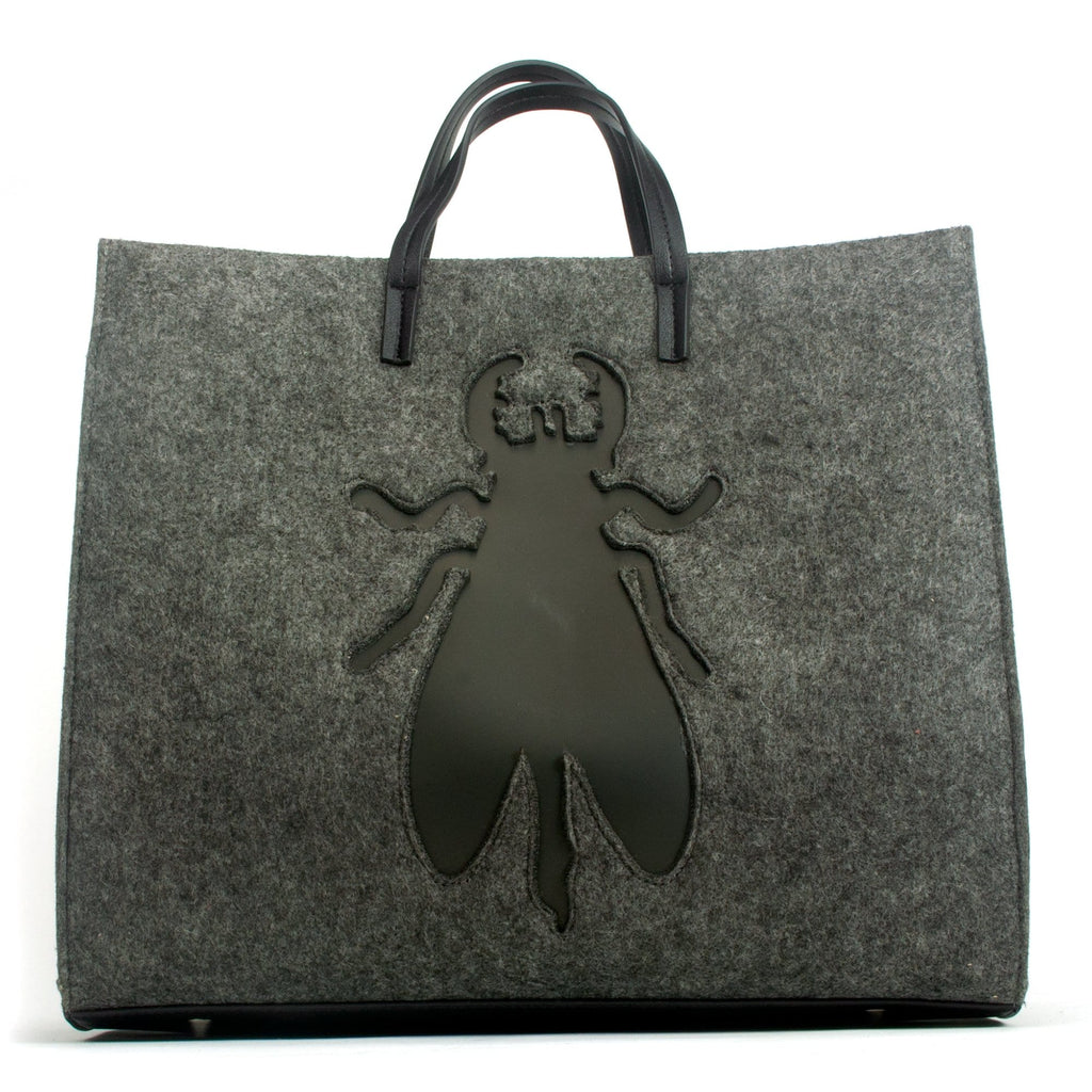 Fly London Synthetic Fabric Tote Bag (AMUR702) Dark Grey | Simons Shoes
