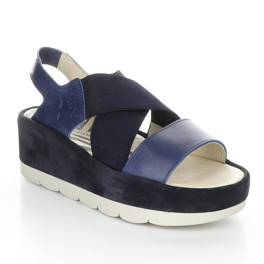Fly London Leather Bime Slingback Wedge Sandal | Simons Shoes