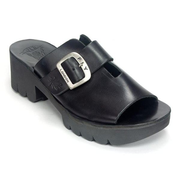 Fly London Mule Leather Chunky Slip On Sandal Cozy445