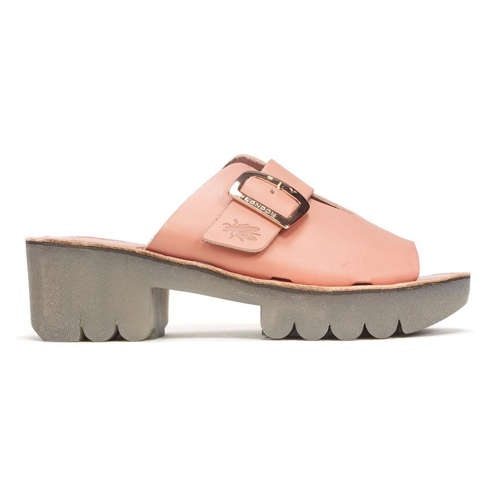 Fly London Mule | Leather Chunky Slip On Sandal (COZY445) | Simons