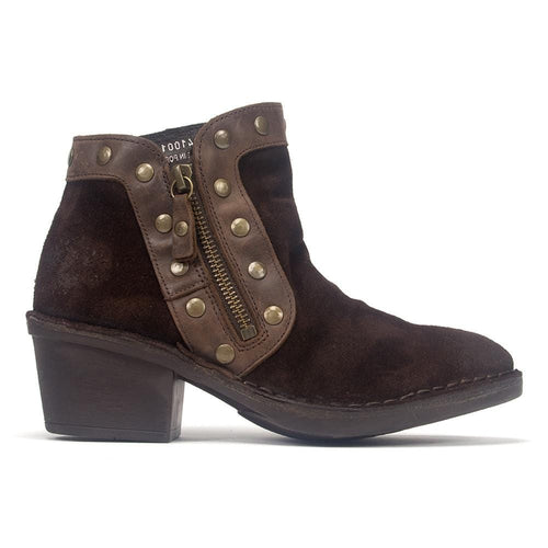 Fly London Women's Duke Suede Studded Cowboy Bootie Shoe