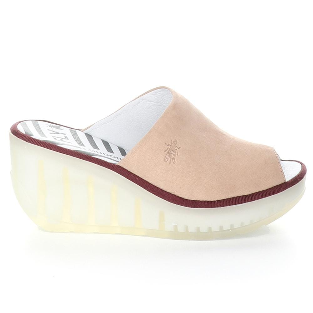 Fly London Jamb Womens Slide Leather Wedge Sandal | Simons Shoes