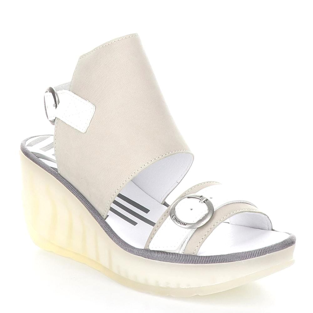 Fly London Jeno Womens Slingback Leather Wedge Sandal | Simons Shoes
