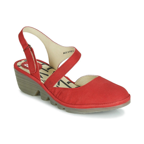 Fly London Women's PELE975 Leather Closed Toe Wedge Heel Sandal Shoe