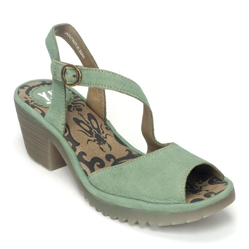 Fly London Willow (WYNO023) | Leather Asymmetrical Sandal | Simons Shoes
