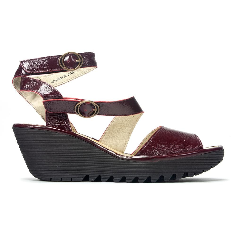 Fly London Women's Yisk 837 Dual Buckle Sandal