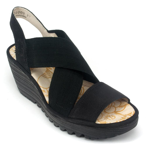 Fly London Sandal - Women's Yaji-888 Leather SlipOn Low-Wedge | Simons