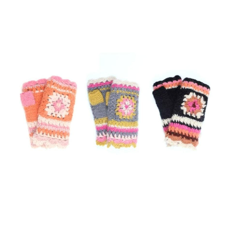 French Knot Crochet Hand Warmer Women's Fleece Lined | Simons Shoes