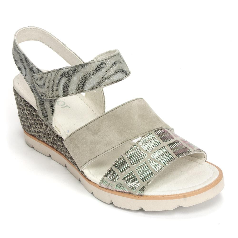 Gabor (25752) Women's Suede and Metallic Textural Sandal Shoe
