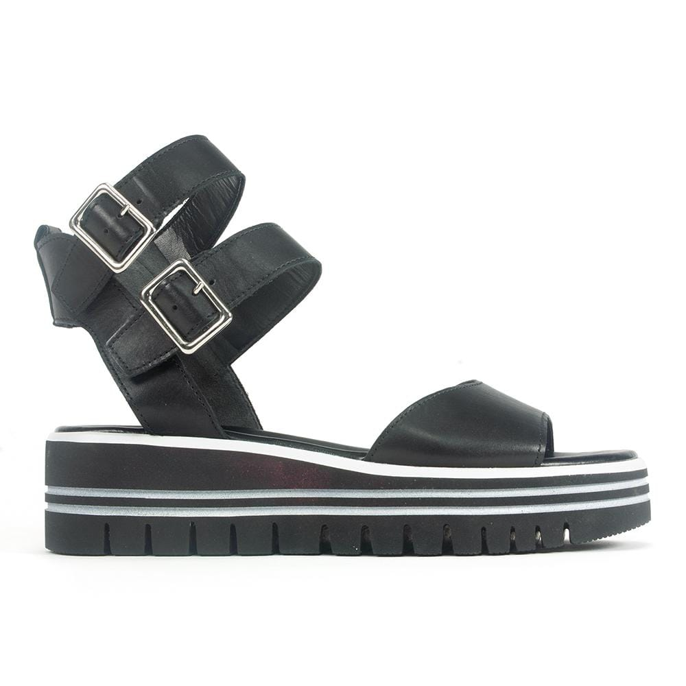 Striped Sole Platform Sandal (44621)