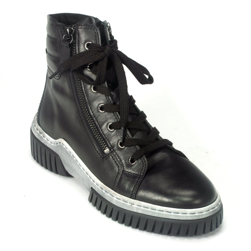 Gabor 53761 Women's  High Top Sneaker Leather Upper Black | Simons Shoes