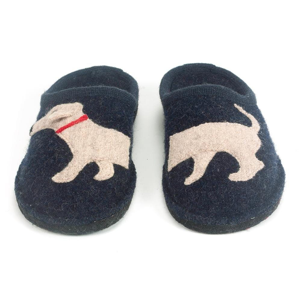 Haflinger Unisex Doggy Dachshund Dog Wool Slipper Shoes