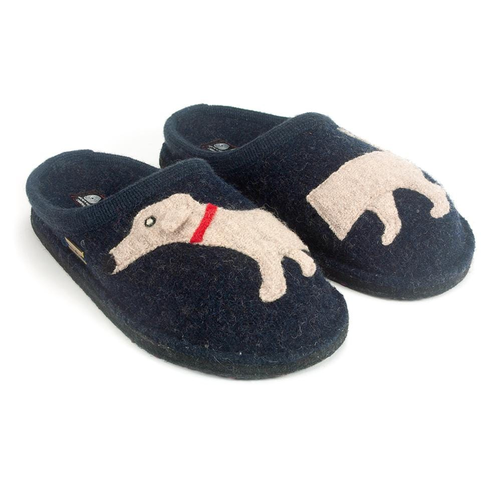 Haflinger Unisex Doggy Dachshund Dog Wool Slippers | Simons Shoes
