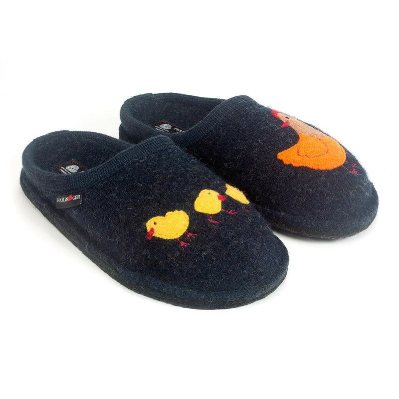 Halfinger Gallina Chick and Hen Wool Comfort Slippers | Simons Shoes