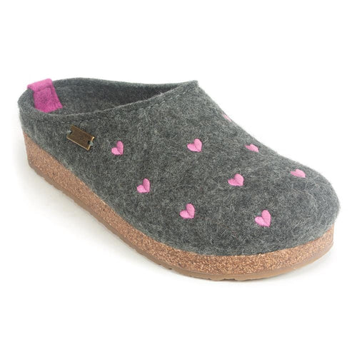 Halfinger Women's Cuoricini Wool Slip On Slipper Clogs | Simons Shoes