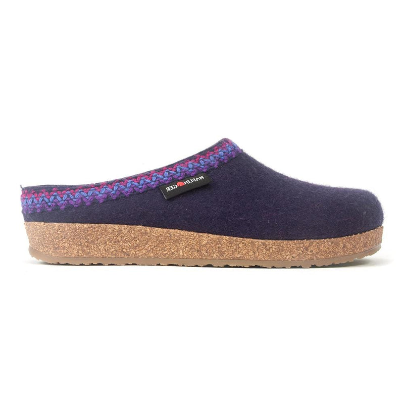 Halflinger Zig Zag | Unisex Soled Wool Slipper Clog | Simons Shoes