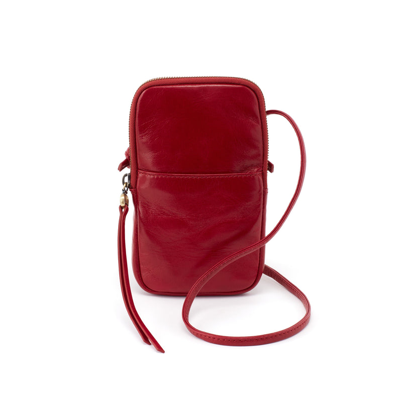 Hobo VI-35791 Fate Crossbody Garnet Leather Phone Bag | Simons Shoes