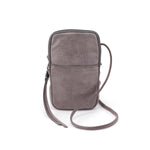 Hobo VI-35791 Fate Crossbody Titanium Leather Phone Bag | Simons Shoes