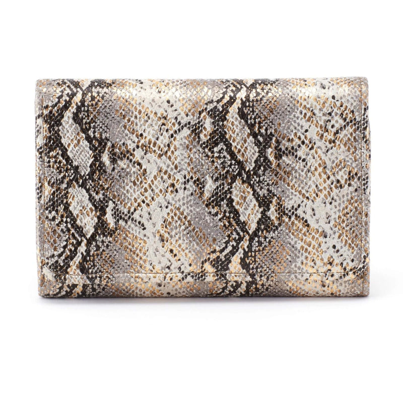 Hobo VI-32149GLAM Jill Glam Snake Leather Wallet | Simons Shoes