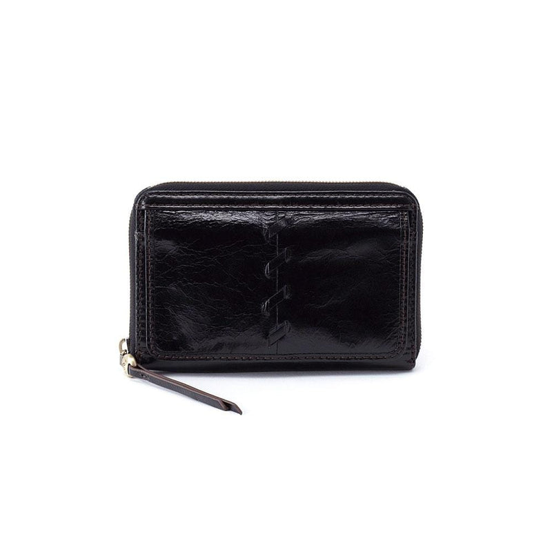 Hobo VI-32381 Elm Black Leather Zip Around Wallet | Simons Shoes