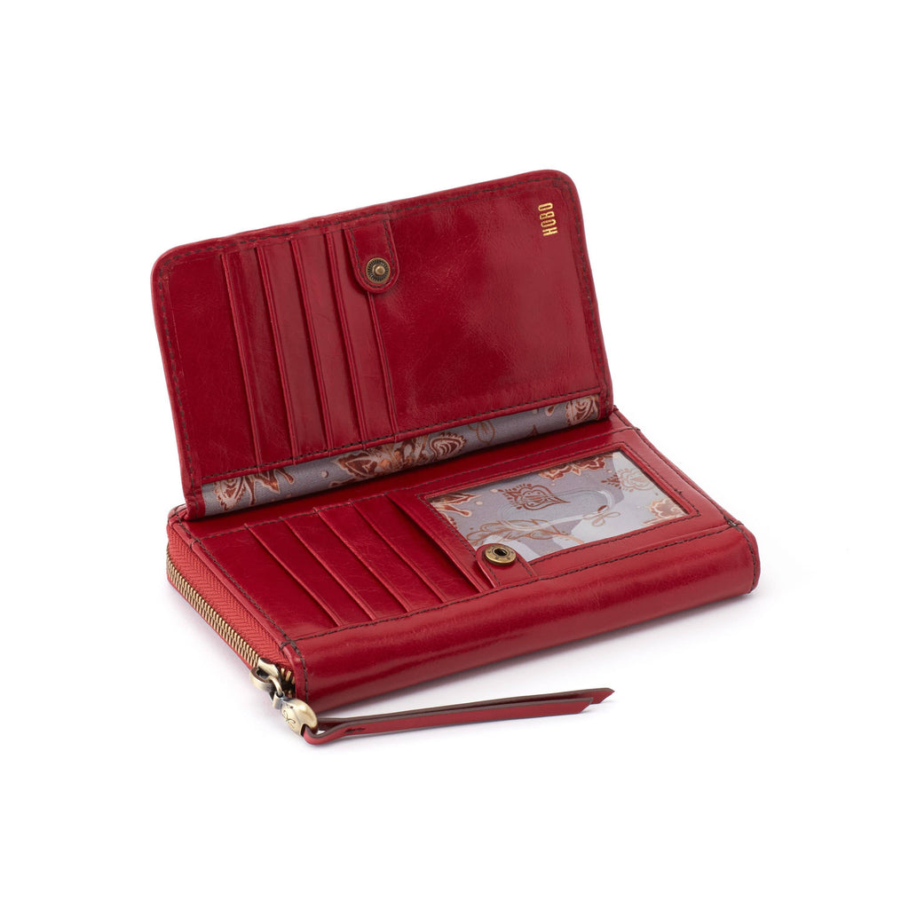 Hobo VI-32381 Elm Garnet Leather Zip Around Wallet | Simons Shoes